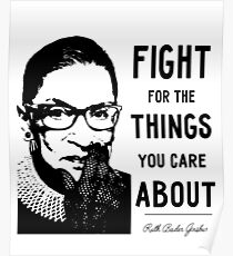 notorious rbg posters redbubble