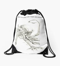 In Space No One Can Hear You Scream Drawstring Bag