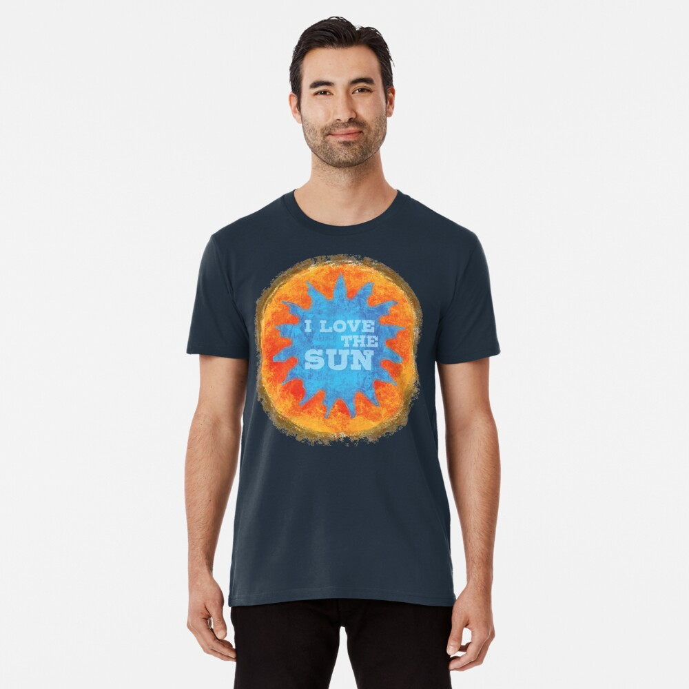 i love the sun Männer Premium T-Shirt Vorne