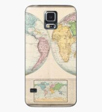 Vintage Map of The World (1862) 2 Case/Skin for Samsung Galaxy