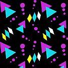 What a Feeling, Memphis Geometric Pattern by ItayaArt