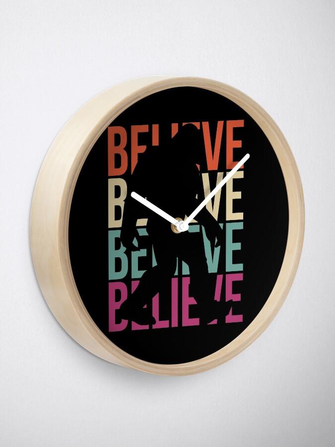Alternate view of Bigfoot T-shirt I Believe Bigfoot Sasquatch Yeti Funny Shirt Clock
