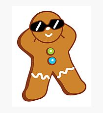Tan Gingerbread Man Photographic Print