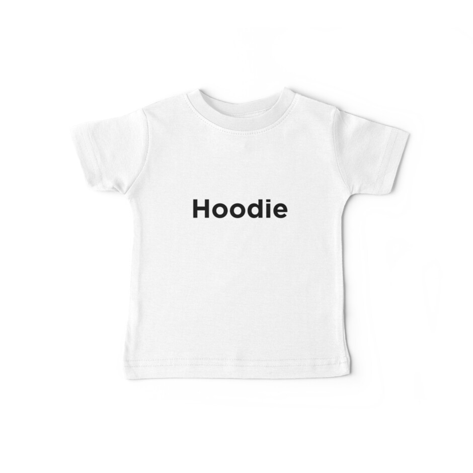 Hoodie Black Typography by Scammell Design