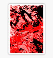 red and black abstract Sticker