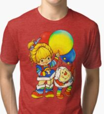 "Vintage ""Up, Up & Away"" Rainbow Brite, Sprite, Twink, White, Colorful, Bright, Retro, Yellow, Gold, Mustard, 80's, Cartoon, Babies, Throwback, Pop Culture, My Childhood   Tri-blend T-Shirt"