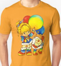 """Vintage """"Up, Up & Away"""" Rainbow Brite, Sprite, Twink, White, Colorful, Bright, Retro, Yellow, Gold, Mustard, 80's, Cartoon, Babies, Throwback, Pop Culture, My Childhood   Slim Fit T-Shirt"""