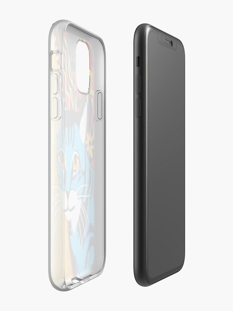 gucci coque de iphone xr ebay - Coque iPhone «Chat Tribal bleu», par JLHDesign
