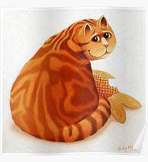 Koi Cat Poster