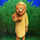 Will Bullas / art print / the lion sleeps tonight... / humor / animals by Will Bullas