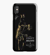 Musician golden poster on black background iPhone Case/Skin