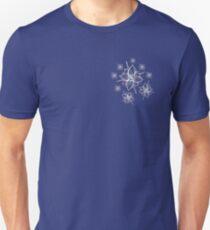 Whimsical Skull Flower Snowflake  Slim Fit T-Shirt