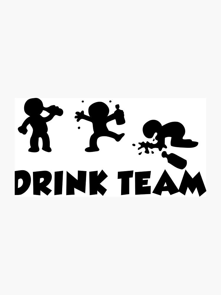 Alcool Divertidos Dibujos Animados Despedida De Soltero Equipo De Bebidas Lámina Fotográfica