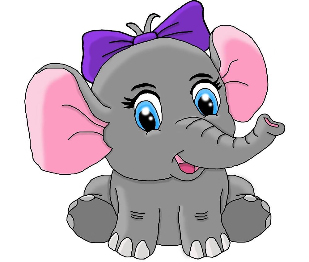 Baby girl elephant by elly208 redbubble - Fotos de elefantes bebes ...