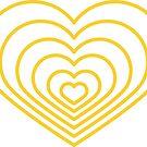 «Forma de corazón amarillo múltiple» de Jodie Andrews