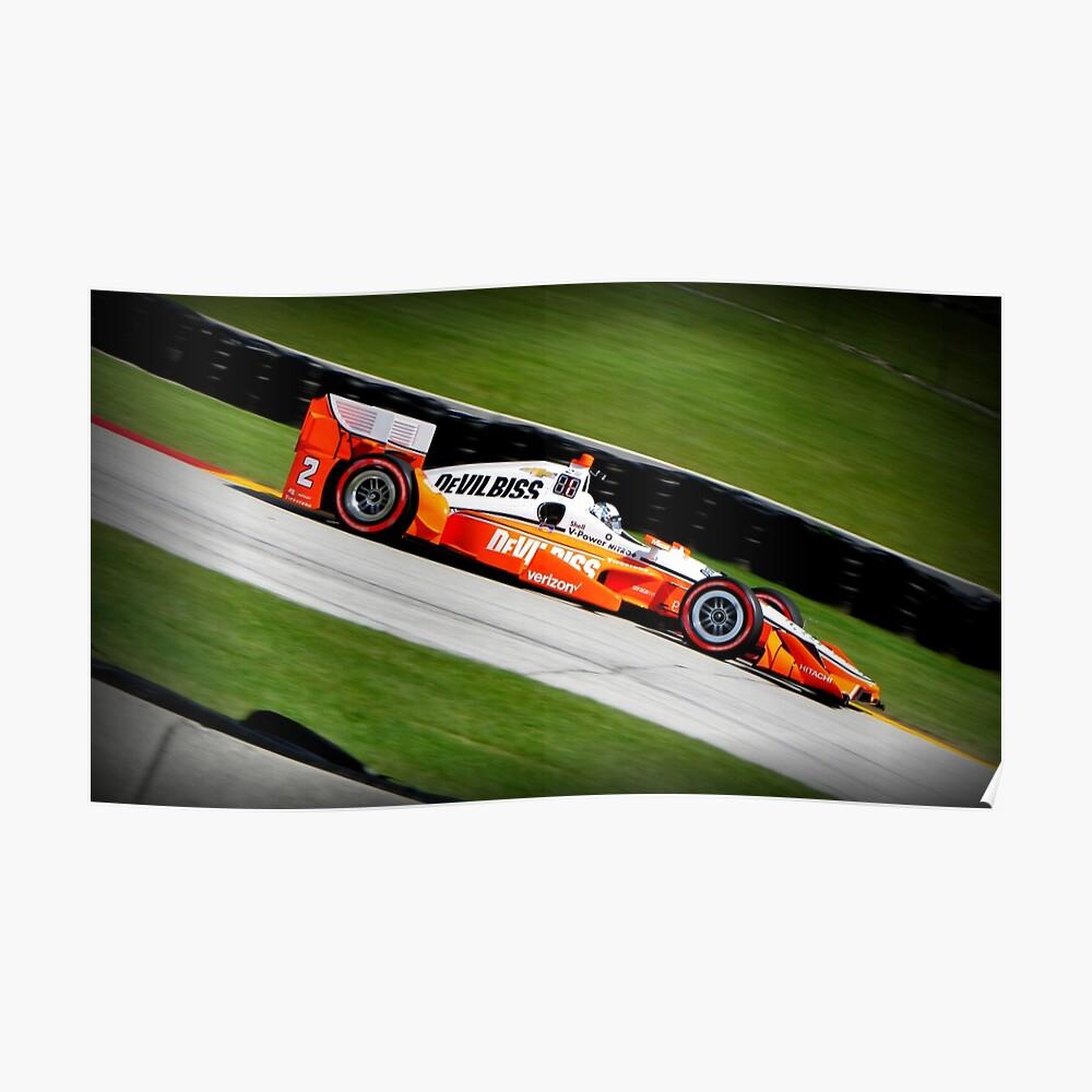 Josef Newgarden IndyCar Rennwagenrennen Poster