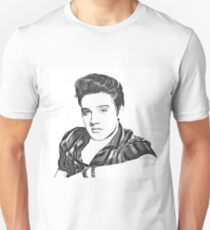 Elvis Presley in Pen and Ink  Unisex T-Shirt