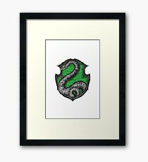 Harry Potter - Slytherin Crest  Framed Print