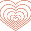 «Forma de corazón multi melocotón» de Jodie Andrews
