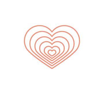 Forma de corazón multi melocotón de jashirts