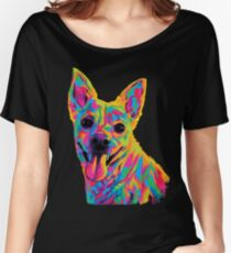 Rainbow Adorable Mutt Dog Women's Relaxed Fit T-Shirt