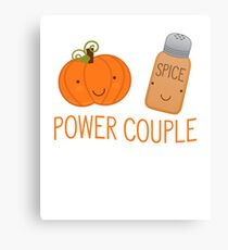 Power Couple Pumpkin Spice - Gift For Coffee Lover Foodie Canvas Print