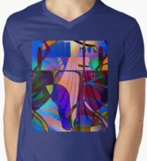 Kiss Kiss T-Shirt mit V-Ausschnitt für Männer