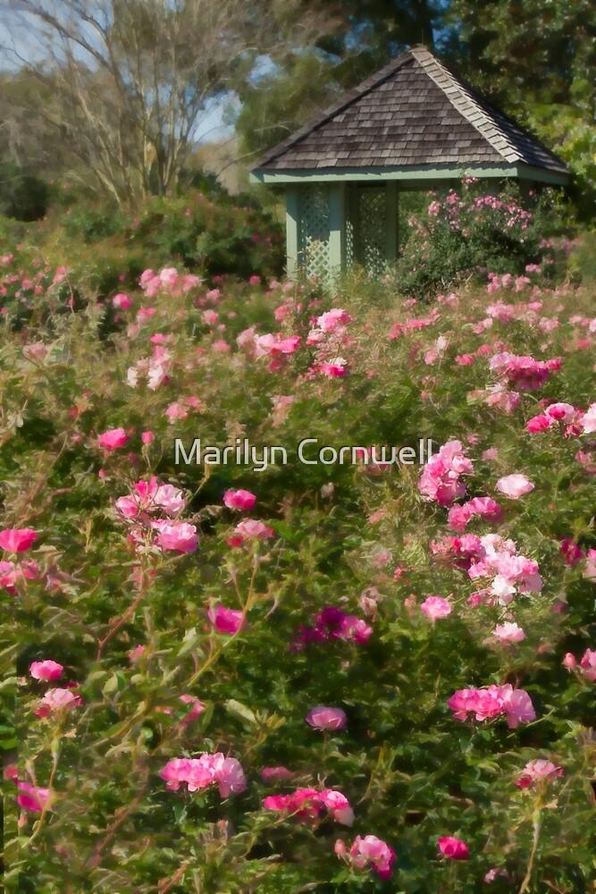 Gazebo on Rose Hill by Marilyn Cornwell