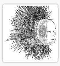 The Matrix head Sticker