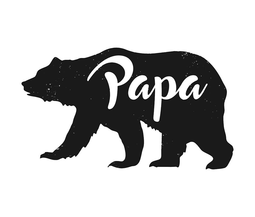 Papa Bär - Vatertag / New Dad / Geschenke für ihn\