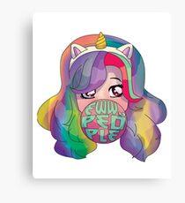 Eww People Shirt Unicorn for Girls Women Kids & Youth Canvas Print