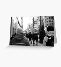 Urban coldness Greeting Card