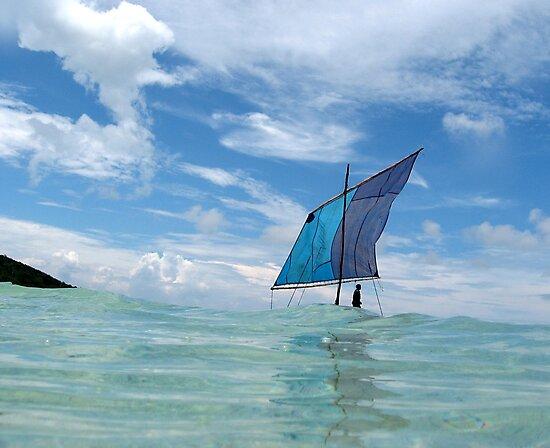 Kula Canoe, Deboyne Lagoon, Papua New Guinea by John Douglas