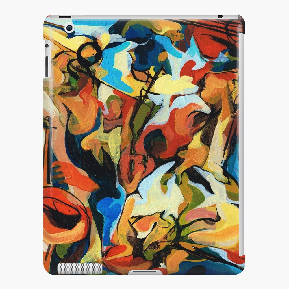 Abstract Musicians Painting iPad Case & Skin