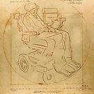 STEPHEN HAWKING meets Leonardo da Vinci by ZenPop