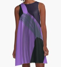Ultra Violet Abstraction A-Line Dress