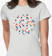 Sea & Spice Moroccan Pattern Womens Fitted T-Shirt