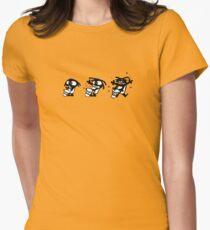 rasta cartoon drum percu djembe music Women's Fitted T-Shirt