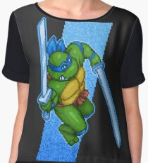 Leonardo Leads Chiffon Top