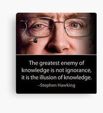 Stephen Hawking quote  Canvas Print