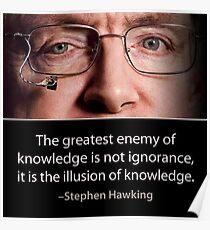 Stephen Hawking quote  Poster