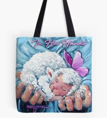 In His Hands Sheep Incognito Art Tote Bag