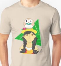Pokemon: A Trainer and her Rowlet Unisex T-Shirt