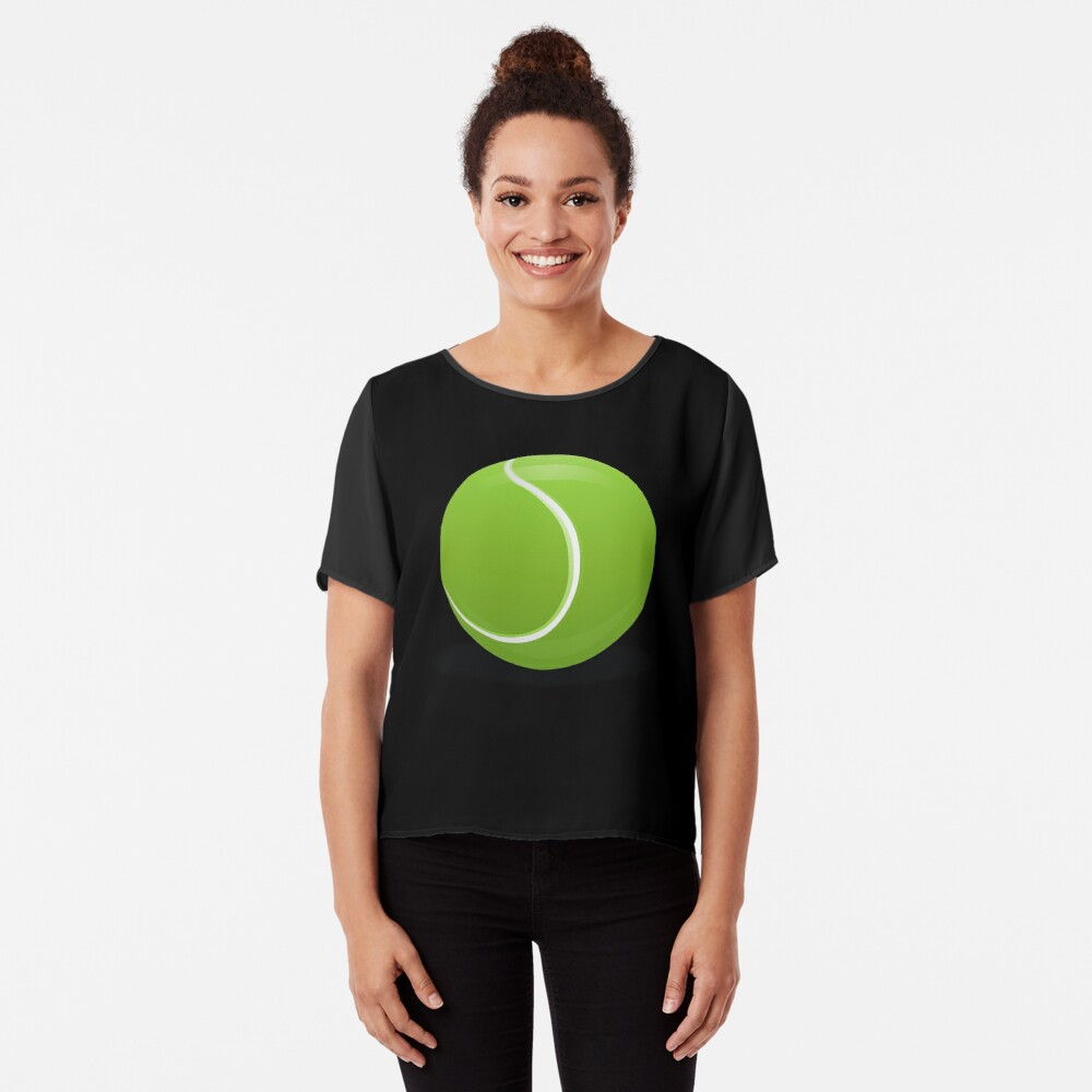 Tennis Ball Chiffon Top