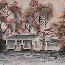old house watercolor painting  by derekmccrea