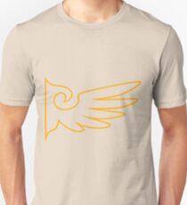 Golden One Winged Eagle [Envelope Design] T-Shirt