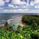 View of Ke'e Beach on Kauai by April White
