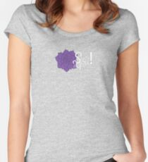 Sucs for You! Echeveria logo Women's Fitted Scoop T-Shirt