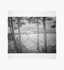 Sunset At The Lake - Embossed-Available As Art Prints-Mugs,Cases,Duvets,T Shirts,Stickers,etc Scarf