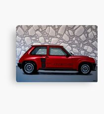 Renault 5 Turbo 2 1980 Painting Canvas Print